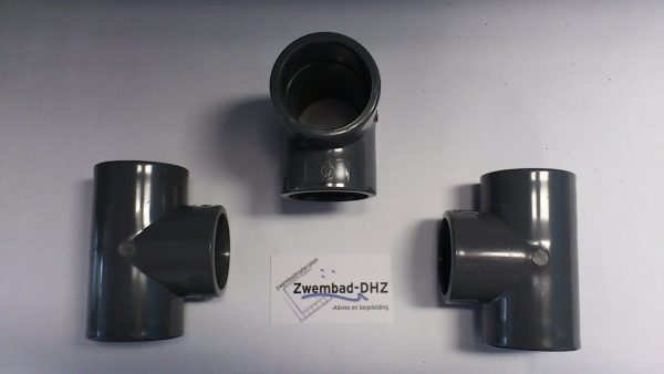 PVC Tee-stuk 50 mm 90° PN16 gelijmd-0