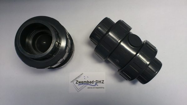 PVC terugslagklep 50 mm gelijmd PN10 (veerbelast)-0