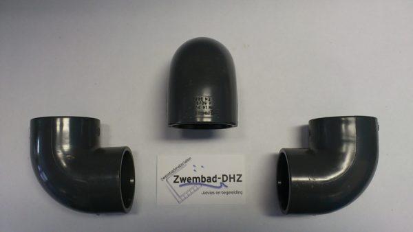 PVC Knie 50 mm 90° gelijmd PN16-0