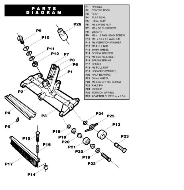 Fairlocks handbediende bodemzuiger -1075