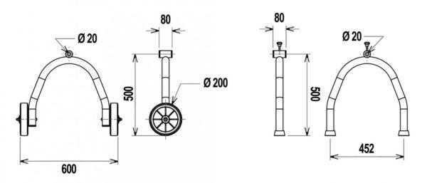 Flexinox telescopisch oprolsysteem 2,5 tot 4,5 mtr (verrijdbaar)-3013