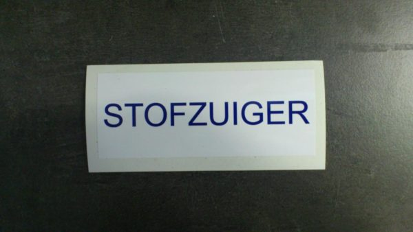"Zwembad sticker ""STOFZUIGER"" (geen verzendkosten)-933"