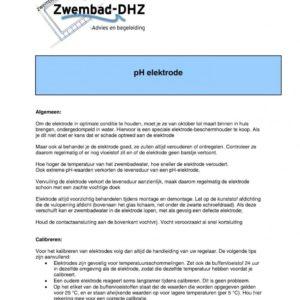 Ph sonde / elektrode (Simpool en Technopool) incl. kabel-1281
