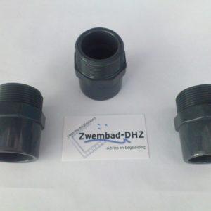"""PVC Puntstuk 40/50 x 1.1/2"""" PN16 -0"""