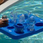 Kool Tray drijvend dienblad en spel (blauw)-0