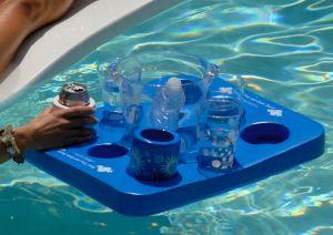Kool tray drijvend dienblad en spel blauw zwembad dhz for Zwembad spel