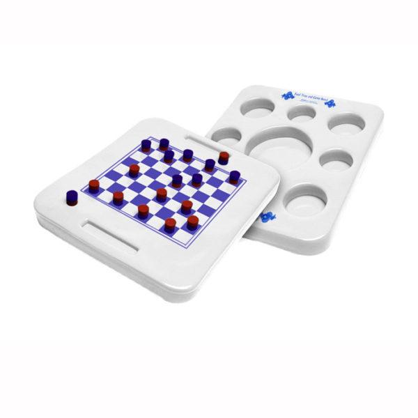 Kool Tray drijvend dienblad en spel (wit)-0