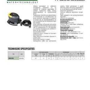 DAB dompelpomp type Eurocover / 230V -2095
