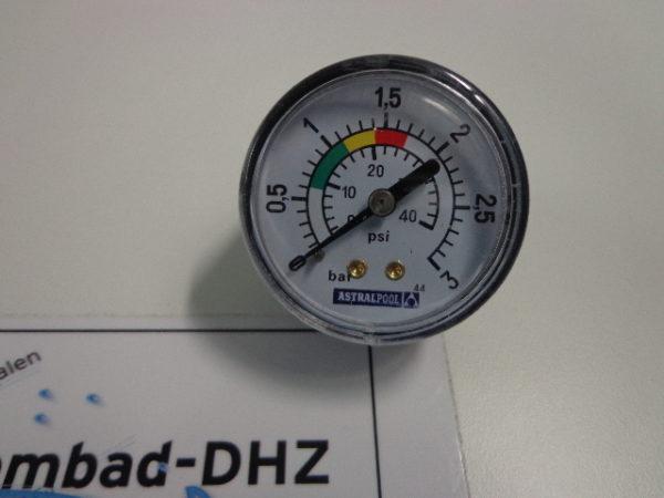 "Astral manometer (drukmeter) set 0 - 3 bar / aansluiting 1/8"" draad-2396"