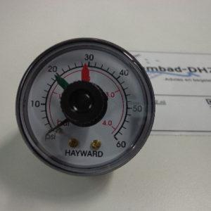 "Hayward manometer (drukmeter) 0 - 4 bar / aansluiting 1/4"" draad-0"