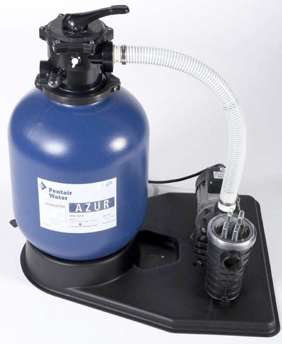 Azur zandfilterset met Pentair Swimmey pomp (9 m3/hr)-0