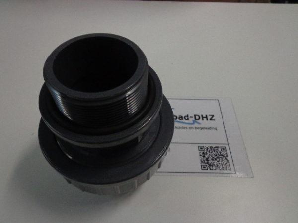 "PVC koppeling 63 mm lijm x 2"" draad / met O-ring-2507"