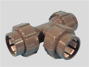 Flexfit : 50 mm klemverbinding TEE-stuk -0
