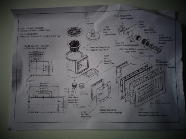 Skimmer Gardipool kompleet (pakkingen, frontplaat en skimvac)-2814