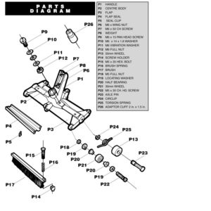 Fairlocks : midden body-deel (vervangings-onderdeel P-2)-2907