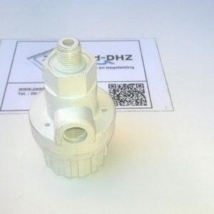 """Ontluchtingsventiel 1/4"""" met manometer aansluiting (merk : DAP)-0"""