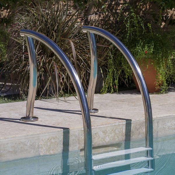 Designer zwembad trap 3 treden rvs 304 kunststof for Zwembad kunststof