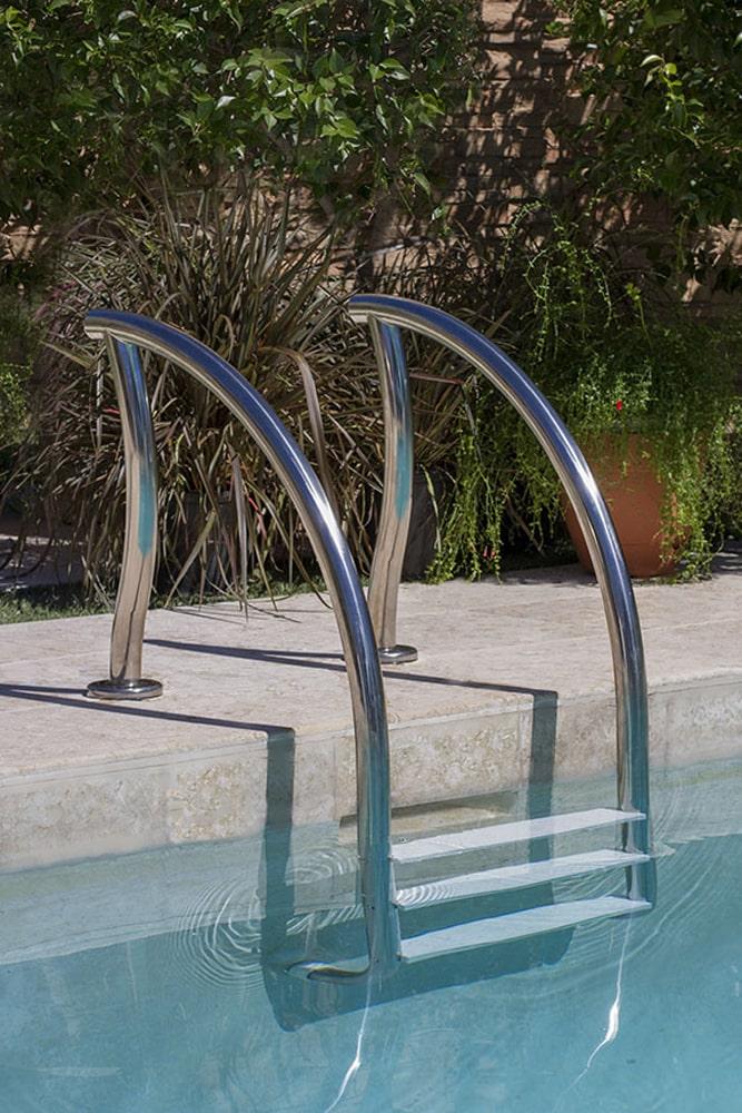 Designer zwembad trap 4 treden rvs 304 kunststof for Zwembad kunststof