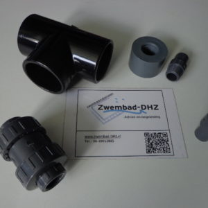 Be- en ontluchtingsset (50 mm PVC) voor solarverwarming-0