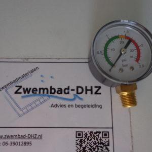 "Manometer (drukmeter) universeel 0 - 2,5 bar / aansluiting 1/4"" draad-0"