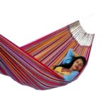 Tropical hangmat single / afmeting 1.95x1.24 mtr / kleur groen-0