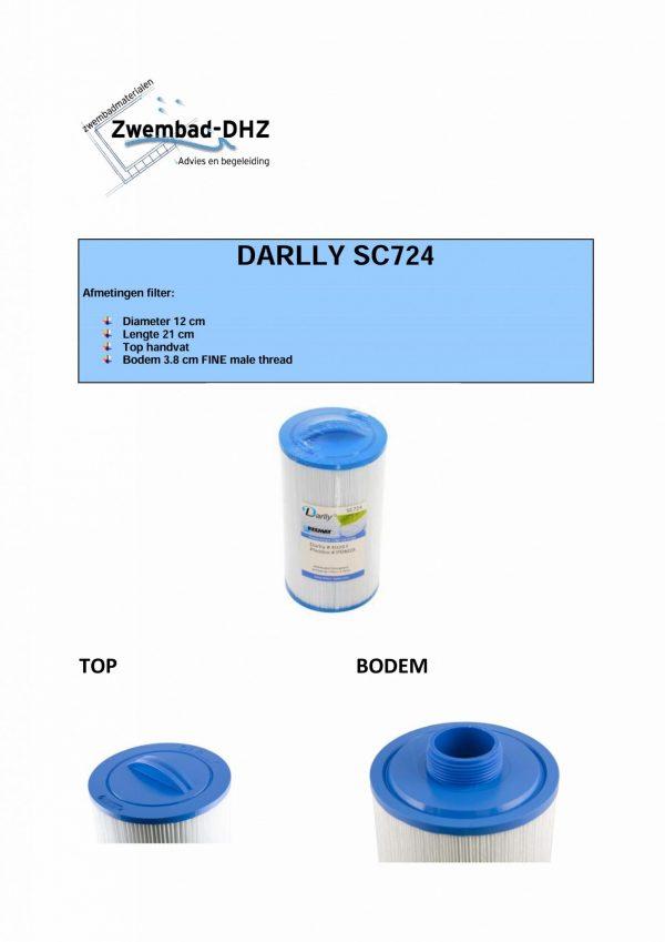 Darlly SC724: Filterdiameter 12 cm / lengte 21 cm / top handle / 3.8 cm FINE male thread (MET STAFFELKORTING!)-3667