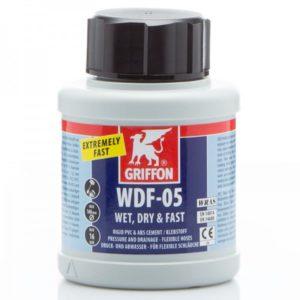 griffon PVC lijm, WDF-05 / 250 ml, met kwast (spleetvullende lijm voor nauwe en ruimere passingen)-0