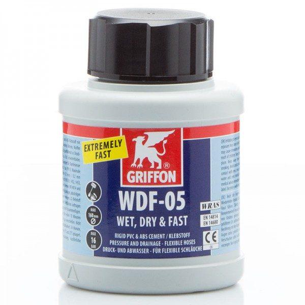 griffon PVC lijm, WDF-05 / 500 ml, met kwast (spleetvullende lijm voor nauwe en ruimere passingen)-0