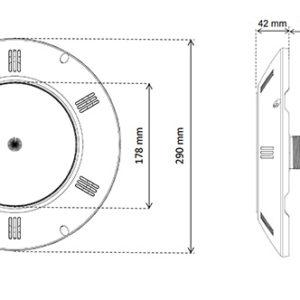 SEAMAID flat projector RGB 12V - 15,9W (11 vaste kleuren en 5 automatische programma's) MET AFSTANDSBEDIENING-4150