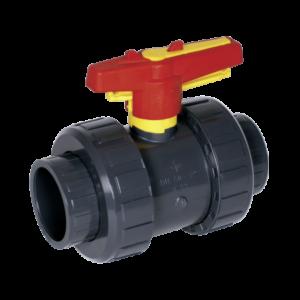 Praher kogelkraan M1 - 40 mm (lijm) PN16 / PVC-U met handwiel-vergrendeling-0