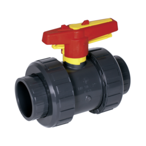 Praher kogelkraan M1 - 32 mm (lijm) PN16 / PVC-U met handwiel-vergrendeling-0