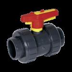Praher kogelkraan M1 - 63 mm (lijm) PN16 / PVC-U S4 met handwiel-vergrendeling-0