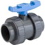 Tecno Plastic kogelkraan 50 mm (lijm) PN16 / PVC-U -0