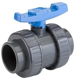 Tecno Plastic kogelkraan 40 mm (lijm) PN16 / PVC-U -0